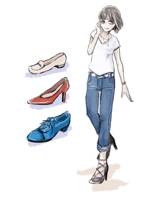 靴 Tシャツ